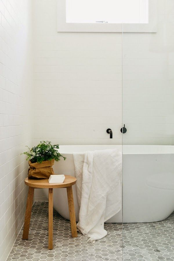 vosgesparis: beautiful floor tile in a light home in Australia | via Est magazine