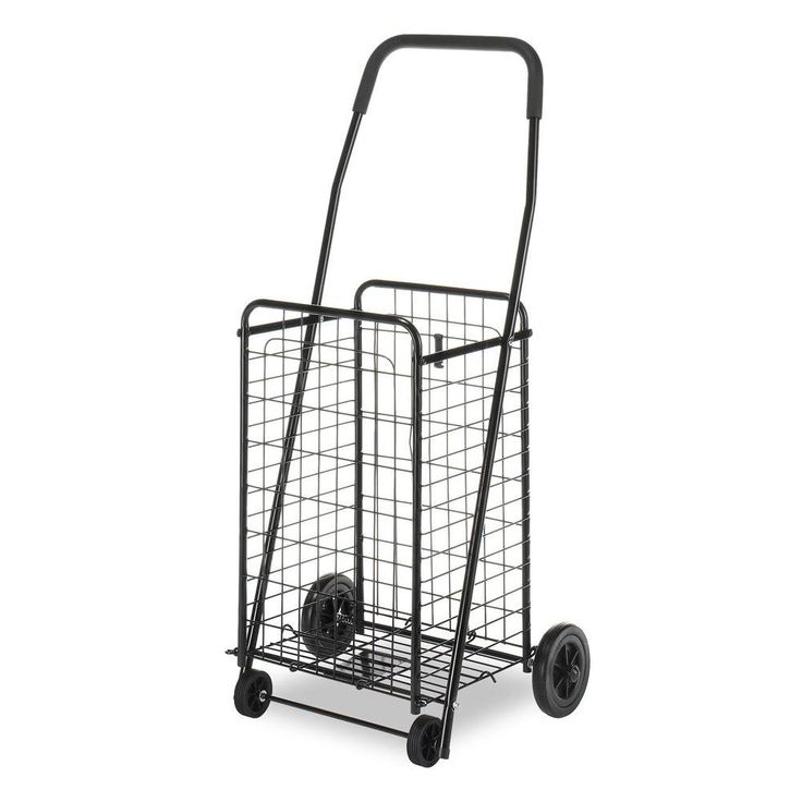 Fresh Utility Cart Collection in x in Rolling Utility Cart in Black