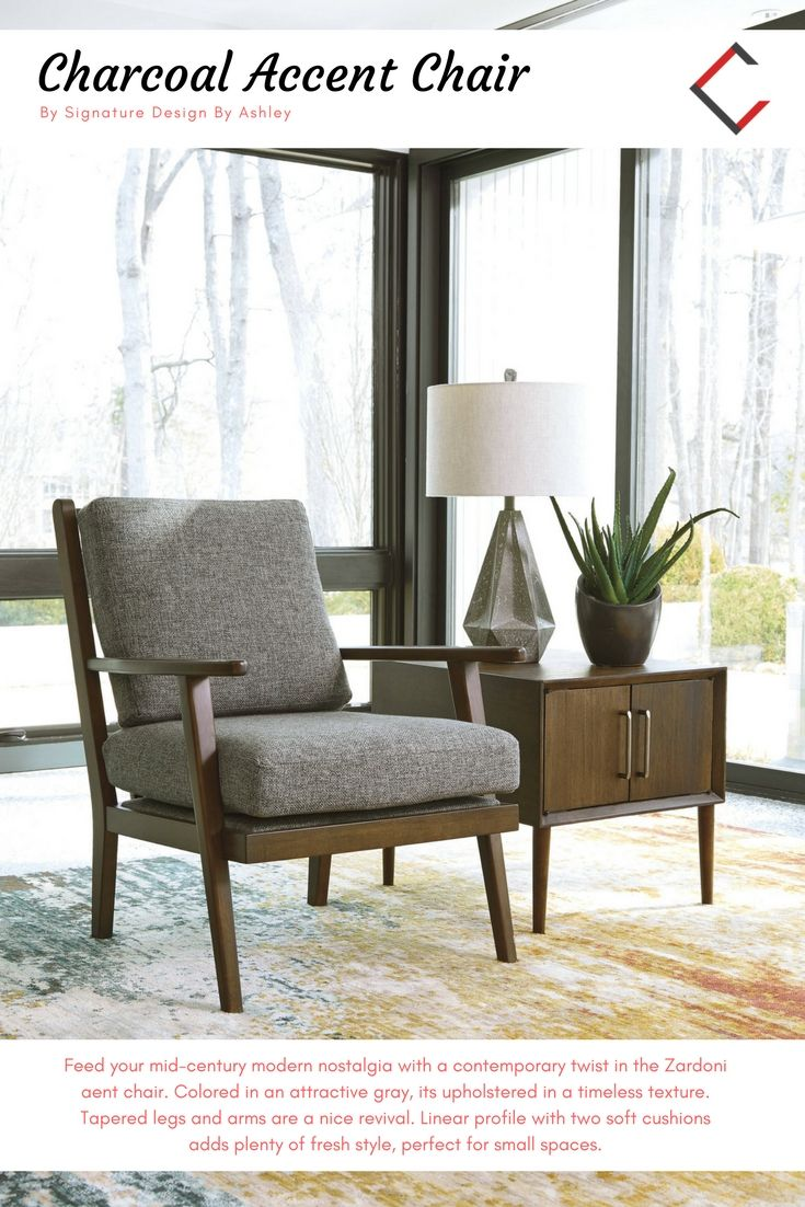 Ashley Furniture Zardoni Charcoal Accent Chair Charcoal Accent