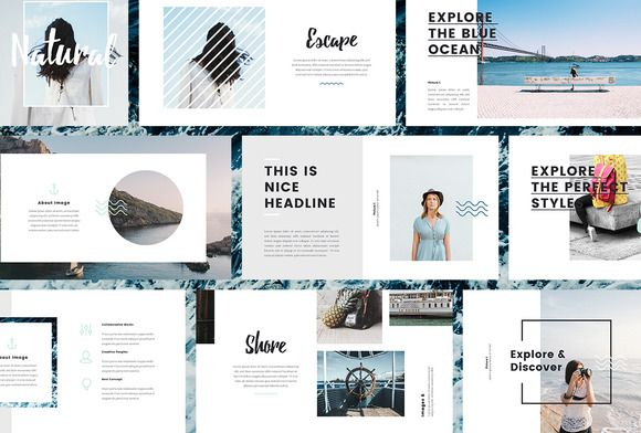 Nautical- Powerpoint Template by PitchLabs.co on @creativemarket