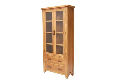 Hampshire, display cabinet, oak