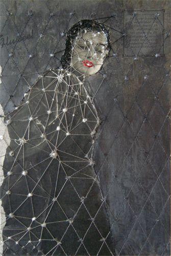 hinke schreudersDutch Artists, Inspiration, Artquilts Portraitsembroideri, Mixed Media, Collage, Paper 16, Hinke Schreuders, Art Textiles, Embroidery
