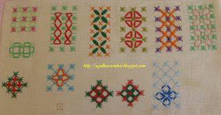 gingham embroidery - punto cruz