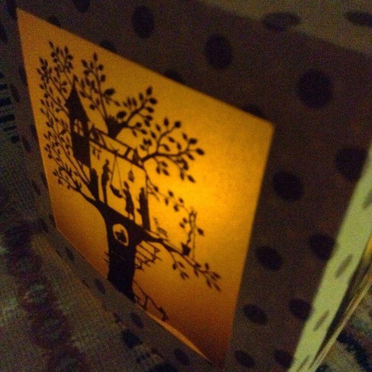"""фонарик Oolamp """"Дом на дереве""""  #paper #lantern #handcraft #handmade #gift"""
