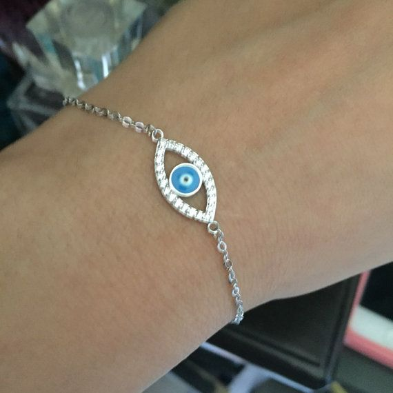 Black friday: Blue Evil Eye Stone Bracelet Jewelry by FunIsStyle