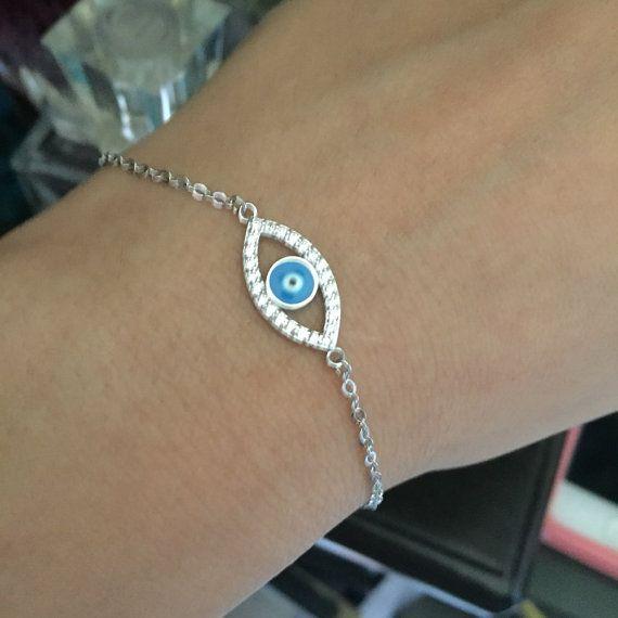 Black friday: Blue Evil Eye Stone Bracelet Jewelry by FunIsStyle