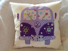 VW CAMPER VAN Patchwork Cushion Kit Cath Kidston Fabrics Purples! Sewintocrafts!