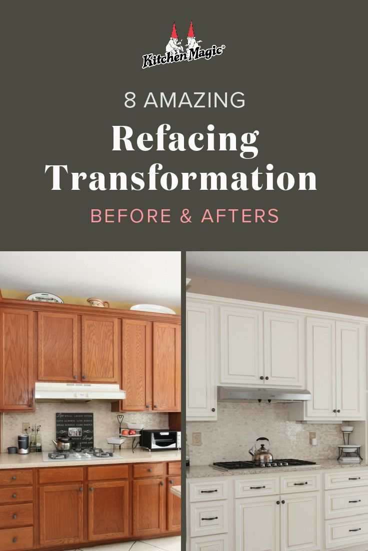 Amazing Kitchen Refacing Transformations With Before After Photos Refacing Kitchen Cabinets Cabinet Refacing Kitchen Remodel