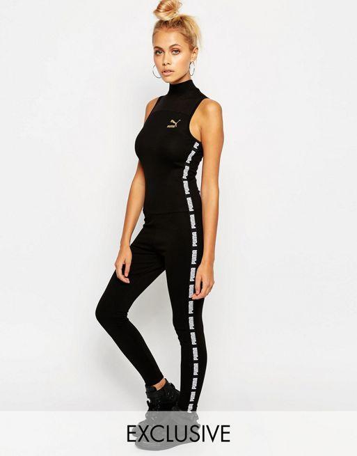 770e272423ae19 puma schuhe ballerina, Puma – Exklusiv bei Hochgeschlossener Overall Black  Damen Overalls, puma shop kleidung günstiger kaufen