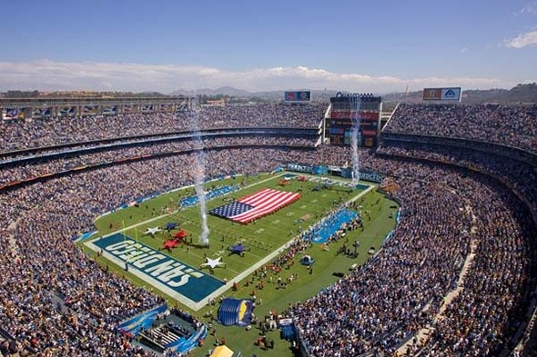 Qualcomm Stadium home of San Diego Chargers