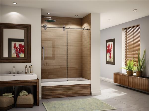 Fleurco   Glass shower doors   Kinetik KT In line Tub. Top 25 ideas about Prospect Place on Pinterest   Marbles  Sconces