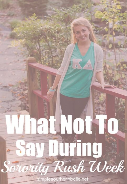 Sorority rush week is right around the corner make sure you're prepared by knowing what's appropriate to talk about during recruitment.  Simplesouthernbelle.net