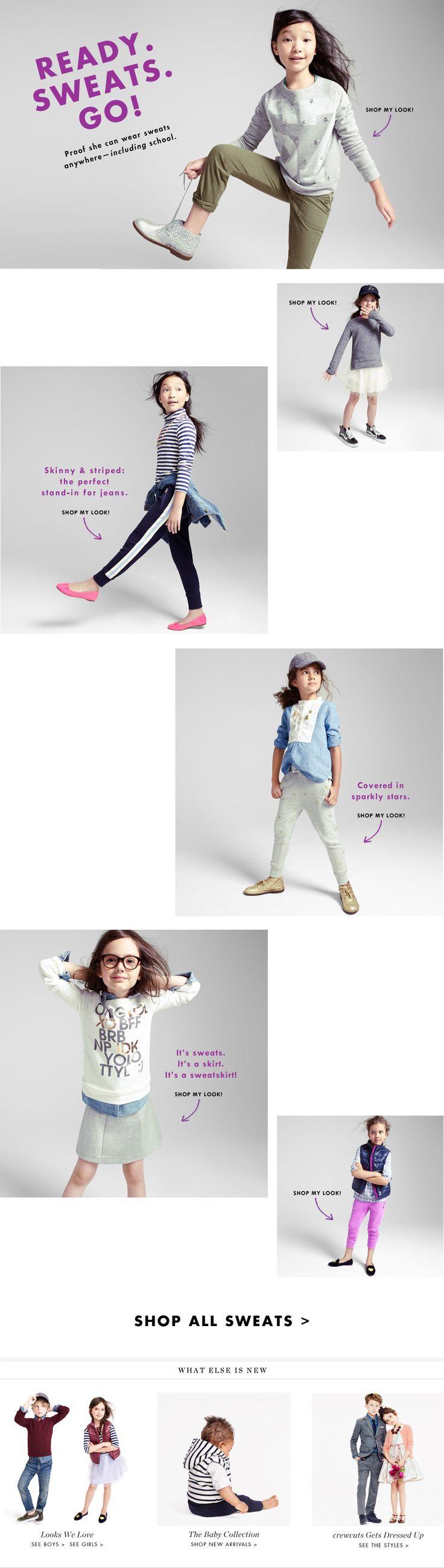 Girls' Clothing, Fashion & Apparel : Ready. Sweats. Go! | J.Crew