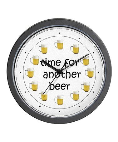 10 best horloges avec des capsules images on pinterest beer cans time for another beer wall clock zulilyfinds fandeluxe Choice Image