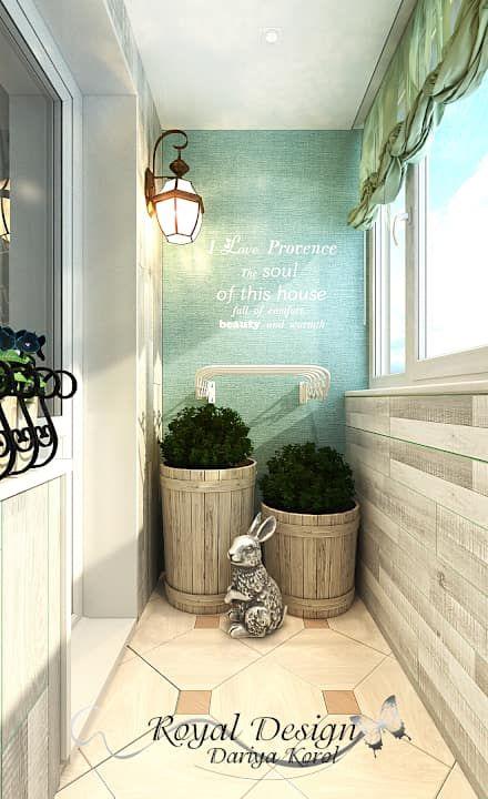Балкон в стиле Прованс: Балконы, веранды и террасы в . Автор – Your royal design
