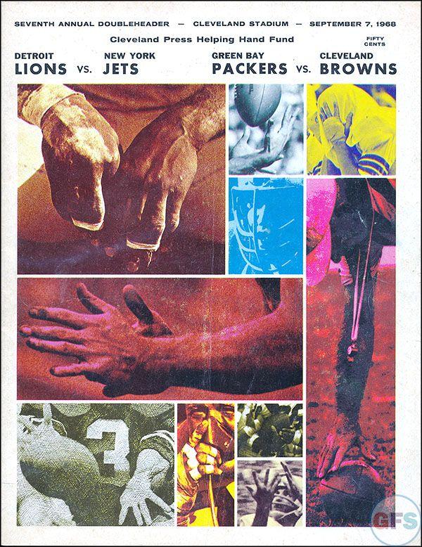 NFL Game Program: New York Jets vs. Detroit Lions (September 7, 1968)