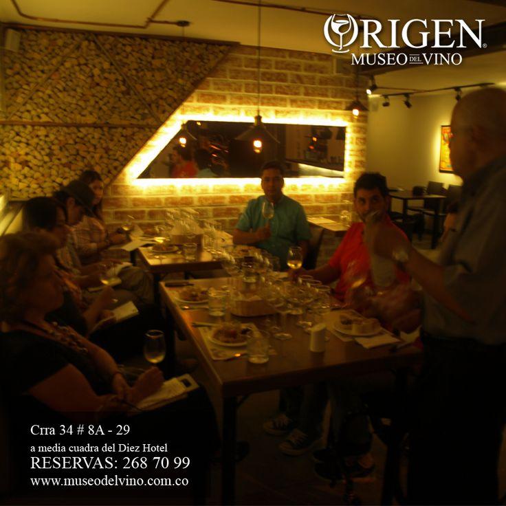 ORIGEN - Museo del Vino disfrutando de nuestra segunda clase de Cata de Vino Nivel I - www.museodelvino.com.co/curso