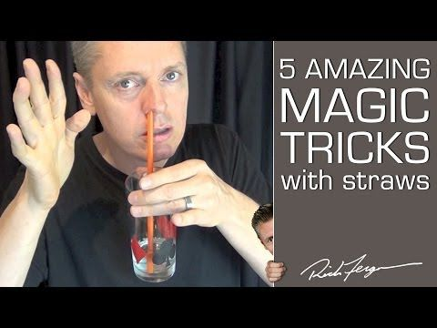 ▶ How to do 5 Amazing Magic Tricks with a Straw - YouTube