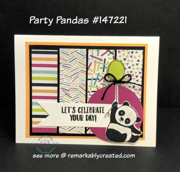Stampin' UP! Party Panda's celebrate on these cards