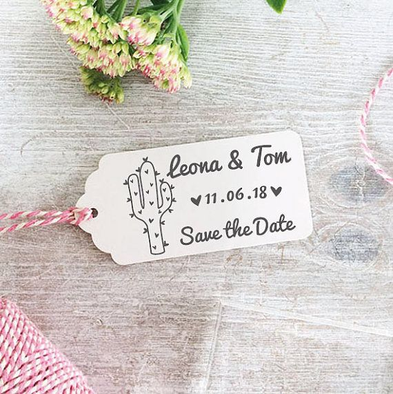 tampon mariage personnalis de cactus logo enregistrer le timbre date de mariage articles - Timbres Personnaliss Mariage