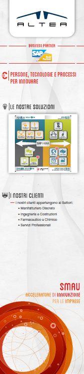 ALTEA è a #SMAU #Milano 2013 con l'ampia gamma delle soluzioni applicative estese #SAP: dal classico ERP alle soluzioni e tecnologie più innovative come la #BusinessIntelligence, la #Mobility, fino all'innovativa offerta SAP #SuccessFactors per la gestione e valorizzazione delle risorse umane. Scopri di più! www.alteanet.it/sap