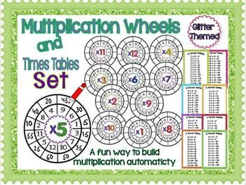 Multiplication Wheels and Times Tables Set @Tamara Walker Scott  These are cute!