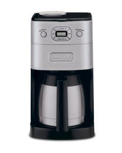 Make your own coffee by grinding your own beans right at your home. This is a 24 hour programmable coffee maker that comes with auto shut-off and stainless steel carafe. With features like these, hot coffee will never leave your side.