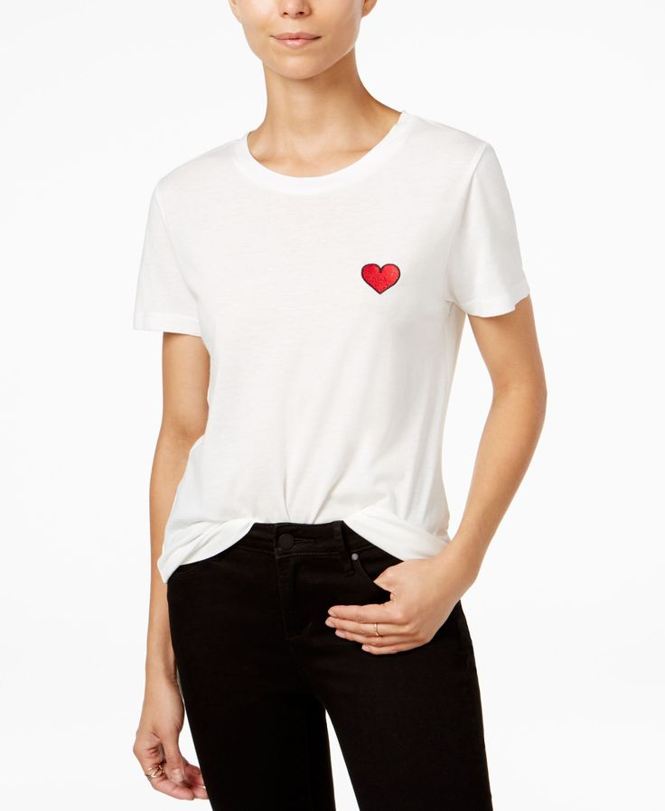 Carbon Copy Cotton Embroidered T-Shirt
