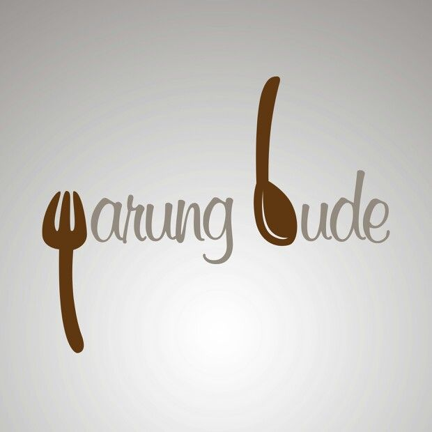 """It's a #logo #design for an eatery. The fork made a """"W"""" letter and the spoon made a """"B"""" letter. So voila! It's Warung Bude"""