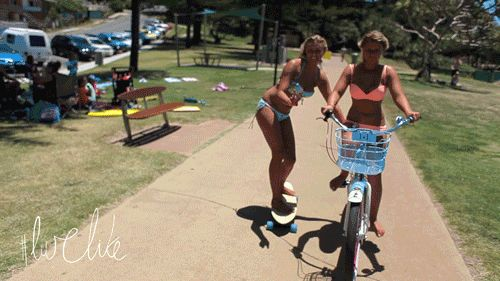 Ellie-Jean and Holly-Daze Coffee doing their sister thing!  #sisters #surfers #awesome #skaters