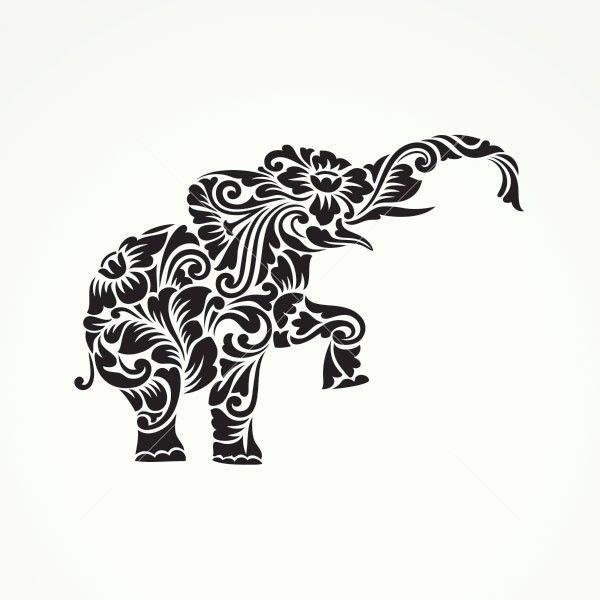 Floral Tribal Elephant 04467