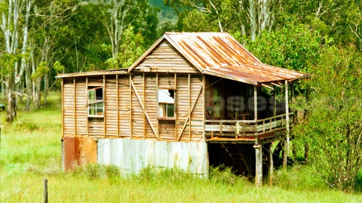 It must have been hot here to have the house on stilts.