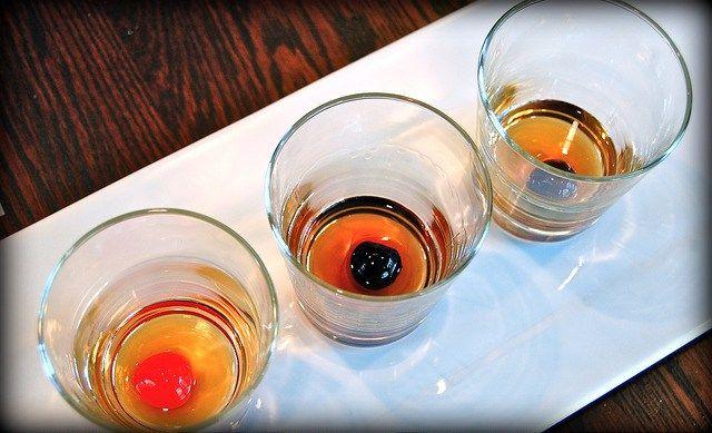 maraschino and moonshine cherries