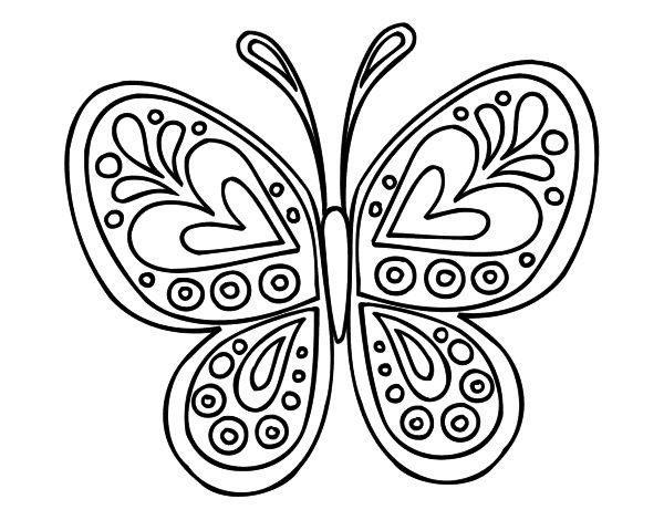 Dibujo de Mandala mariposa