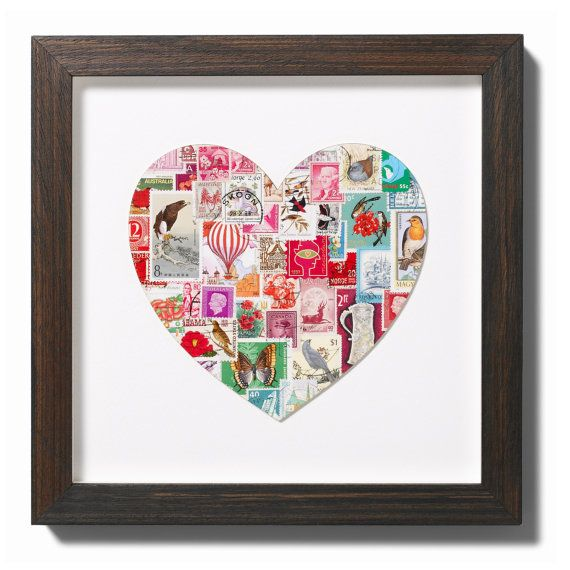 Stamp heart by Bombus on Etsy, $135.00