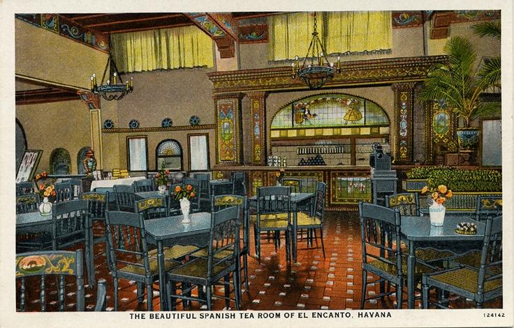 The  beautiful Spanish tea room of El Encanto, Havana