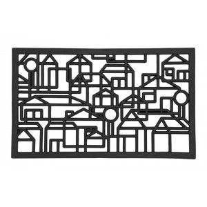 """Perforated rubber doormat """"Villastad"""" designed by Lill O. Sjöberg. Nominated to Formex Formidable design award 2012."""