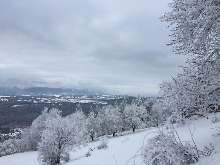 Aussicht vom Peißenberg im Winter