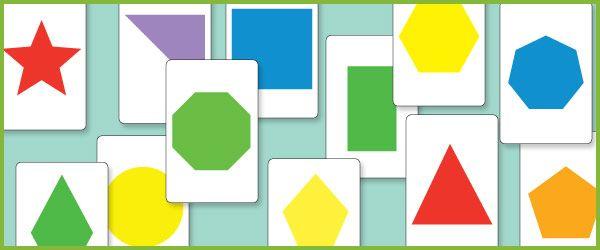 2D Shape Flash Cards