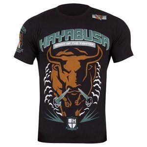 Hayabusa Bull Vechtsport T-Shirt Black Hayabusa MMA Kleding