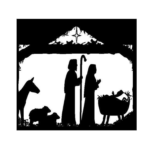 Best CHRISTinChristmas Images On Pinterest Nativity - Nativity vinyl decal for glass block light