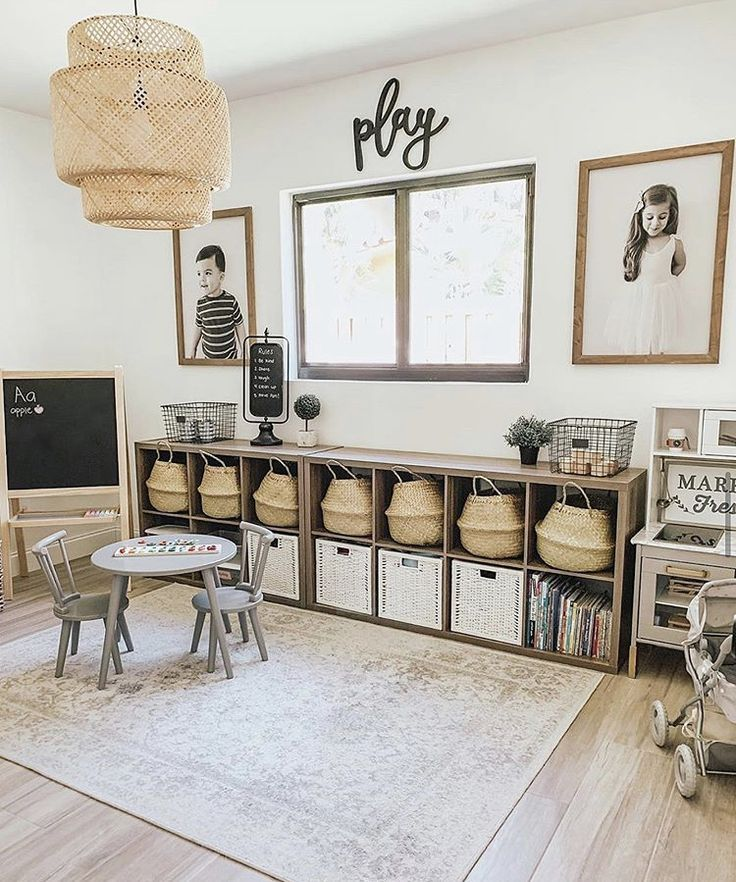 Playroom Design, Playroom Decor, Kid Playroom, Kids Playroom Storage, Modern Playroom, Cheap Playroom Ideas, Playroom Quotes, Office Playroom, Casa Loft