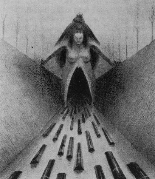 Alfred kubin: Artists, The Roads, 1900 Alfred, Kubin 18771959, Alfred Kubin, Millennium Drawings, Alfredkubinthumb3Jpg 283328, Kubin Creepy, Kubin 1877 1959