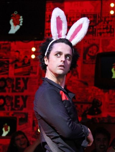 Billie Joe Armstrong at his last performance as St. Jimmy in the Broadway musical