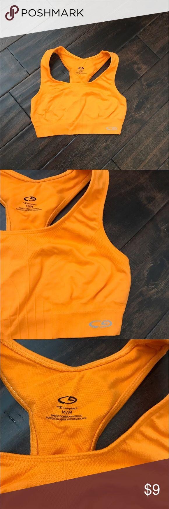 Champion sports bra size Medium orange Champion sports bra size Medium orange. Worn and washed only one. Perfect condition. So cute and good support. Champion Intimates & Sleepwear Bras