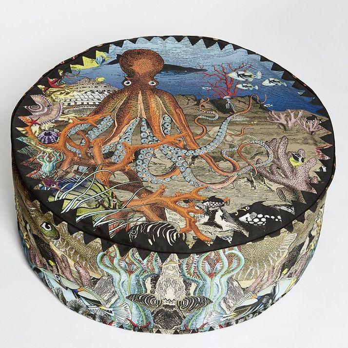 Wonder Garden Pouffe - Great Barrier Reef | Konst och underhållning | Kristjana S Williams Studio