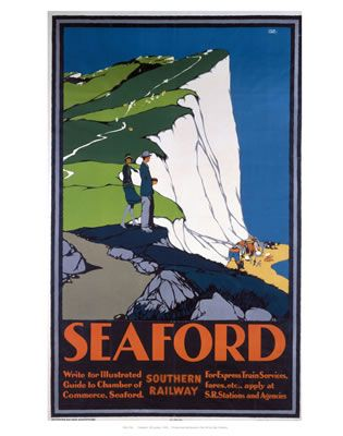 'Seaford', SR poster, 1930. Southern Railway poster. Artwork by Leslie Carr…