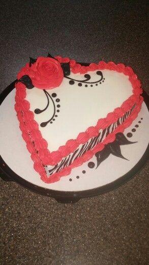 Dairy Queen Heart Cake