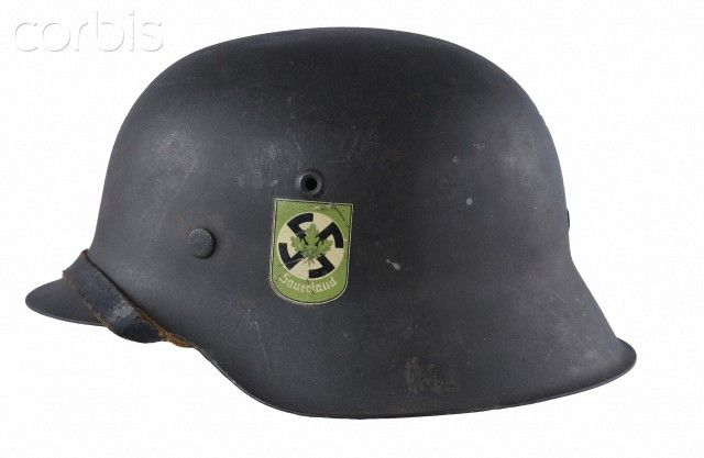 WW2 German Helmet M42, with insignia of Freikorps Sauerland