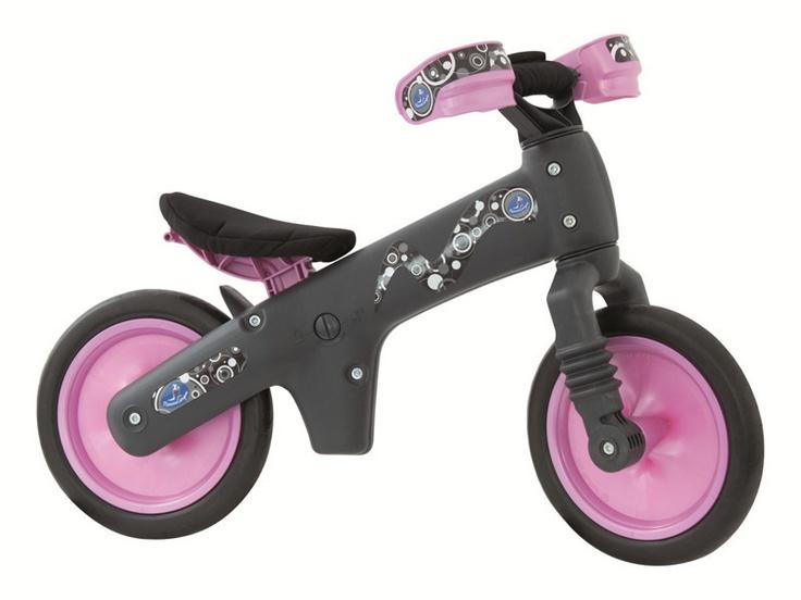 Mamma Cangura B-Bip Grey Pink Bike - Safe and so cool!